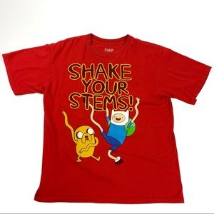 Adventure Time XXL Shake Your Stems Red Shirt